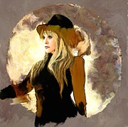 Stevie Nicks Framed Prints - Stevie Nicks Portrait Framed Print by Brian Tones