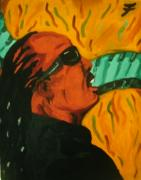 Fleurant Paintings - Stevie Wonder by Jason JaFleu Fleurant