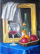 Glass Paintings - Still life by Eleonora Mingazova