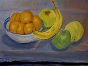Banana Pastels Prints - Still Life Print by Marilyn Campbell