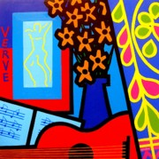 Funky Paintings - Still Life With Henri Matisses Verve by John  Nolan