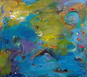 Outer Space Abstract Paintings - Still Waters Run Deep by Johnathan Harris