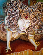 Medusa Metal Prints - Stone Cold Beauty Metal Print by Al  Molina