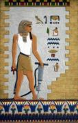 Hieroglyphics Reliefs Metal Prints - Stone Cutter Metal Print by Richard Deurer