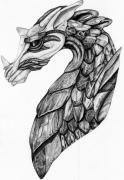 Concept Drawings - Stone Dragon by Emma Spears