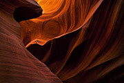 Antelope Canyon Photo Acrylic Prints - Stone Shadows Acrylic Print by Mike  Dawson