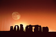Stonehenge, England Print by John Foxx