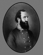 Confederate Army Framed Prints - Stonewall Jackson Framed Print by War Is Hell Store