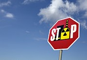 Caution Posters - Stop Nuclear Power, Conceptual Artwork Poster by Detlev Van Ravenswaay