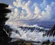 Ocean Reliefs Prints - Storm Approach Print by John Cocoris