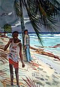 Carribean Prints - Storm Jitters Print by Donald Maier