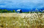 Rural Landscapes Pastels Prints - Stormy Afternoon Print by Jan Amiss