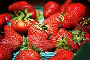 Strawberries Print by Cathie Tyler