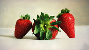 Colorful Photography Prints - Strawberries Print by Kristin Kreet