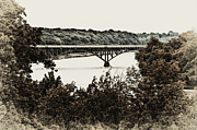 Strawberry Digital Art Prints - Strawberry Mansion Bridge from Laurel Hill Print by Bill Cannon