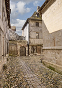 Calvados Framed Prints - Street in Medieval French Town Framed Print by Jon Boyes
