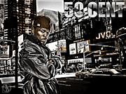 Photo Manipulation Mixed Media Prints - Street Phenomenon 50 Cent Print by The DigArtisT