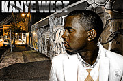 Rap Mixed Media Posters - Street Phenomenon Kanye West Poster by The DigArtisT