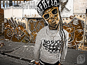 Little Wayne Prints - Street Phenomenon Lil Wayne Print by The DigArtisT