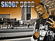 Shady Street Framed Prints - Street Phenomenon Snoop Dogg Framed Print by The DigArtisT
