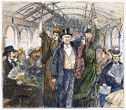 Streetcar, 1876 Print by Granger