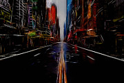 Ny Mixed Media - Streets of New York  by Stefan Kuhn