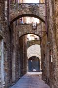 Tuscan Scene Framed Prints - Streets of San Gimignano Framed Print by Andre Goncalves