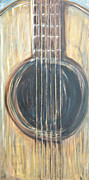 Acoustic Guitar Painting Originals - Strings by Chuck Gebhardt