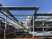 Metal Sheet Photos - Structural Steel Construction Of An by Don Mason