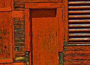 Entrance Door Framed Prints - Structure.0048 Framed Print by Gary LaComa