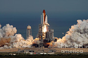 Atlantis Prints - Sts-122 Launch Print by Nasa