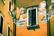 Reveal Prints - Stucco and Brick Patterns on Buildings in Verona Italy Print by Gordon Wood