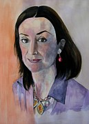 Watercolour Portrait Prints - Study for Daphne Print by Ray Agius