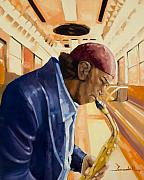 Jazz Painting Originals - Subway Jazz by Lee Goodall
