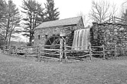 Wayside Inn Grist Mill Prints - Sudbury Grist Mill  Print by Catherine Reusch  Daley