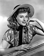 Wide Brim Hat Posters - Suddenly Its Spring, Paulette Goddard Poster by Everett