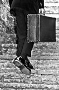Black Man Photo Prints - Suitcase Print by Joana Kruse