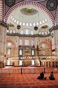 Bogacki Framed Prints - Suleymaniye Mosque Interior Framed Print by Artur Bogacki