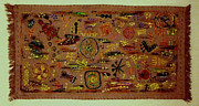 Ancient Tapestries - Textiles Prints - Sumerian Rug Print by Siran Ajel
