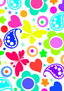 Designer Colour Prints - Summer Fun Print by Louisa Knight