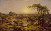 Canada Paintings - Summer Lake Ontario by Jasper Francis Cropsey