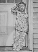 Graphite Drawings Drawings - Summers  Over by Curtis James