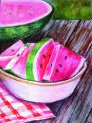 Watermelon Pastels Framed Prints - Summertime Framed Print by Sherlyn Andersen