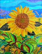 Sun Glass Art Prints - Sun Flower Print by Danuta Duminica