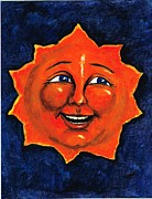 Man In The Moon Paintings - Sun by Sarah Farren