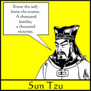 Chinese Posters - Sun Tzu Poster by War Is Hell Store