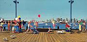 Realist Paintings - Sunday Morning Lonsdale Quay by Neil Woodward