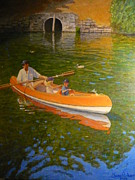 Impressionist Paintings - Sunday On Avon by Terry Perham
