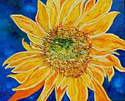 Organic Paintings - Sunflower by Dorota Nowak