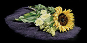Vanda Luddy Prints - Sunflower Print by Vanda Luddy